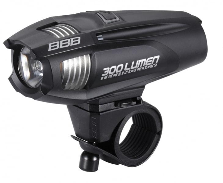 osvětlení přední BBB Strike 300 černé