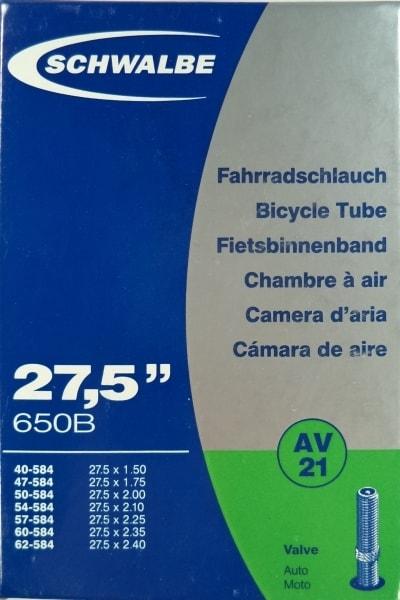 Duše SCHWALBE AV21 27.5'x1.50-2.40 (40/62-584) AV40mm